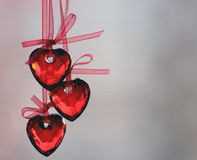 Love Heart. Hanging on a string of love Heart. The Valentine's day stock photography