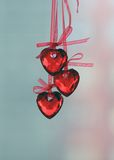 Love Heart. Hanging on a string of love Heart. The Valentine's day stock image