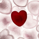 Love heart. Ice cubes in the shape of a love heart melting into water Royalty Free Stock Photography