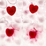 Love heart. Ice cubes in the shape of a love heart melting into water Royalty Free Stock Images