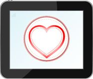 Love heart icon for mobile devices tablet pc Stock Photo