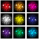 Love heart icon set. Vector eps10. Love heart icon set on white background Stock Images