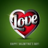 Love heart icon steel Royalty Free Stock Photos