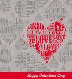 Love heart illustration Stock Photos