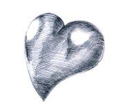 Love heart illustration stock photography