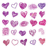 Love. Heart illustration isolated. Royalty Free Stock Images