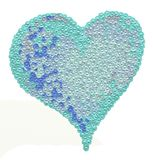 Love heart illustration. The illustration is made in photoshop. This is a simulation of oil on canvas. royalty free stock images