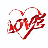 Love and heart illustration on valentine's day. On a white background royalty free illustration