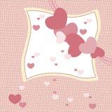 Love heart invitation card Stock Photo