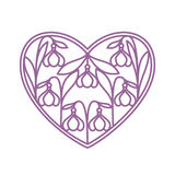 Love heart. Isolated Love Heart in paper cut style on the white background Stock Photo