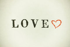 Love heart with lettering Stock Images