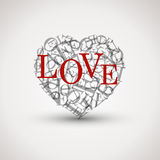 Love heart from letters Royalty Free Stock Images