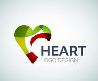 Love, heart, like, logo made of color pieces Royalty Free Stock Photography