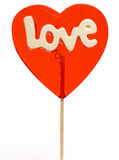Love-heart lollipop Royalty Free Stock Photos