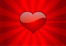 Love heart love heart vector valentine vector Royalty Free Stock Photos