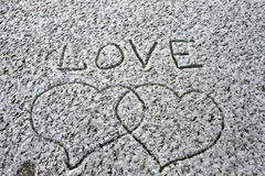 Love Heart loyalty winter cold background  Valentine's Day Royalty Free Stock Image