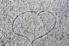 Love Heart loyalty winter cold background  Valentine's Day Stock Photos