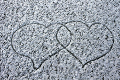 Love Heart loyalty winter cold background  Valentines Day Royalty Free Stock Photography