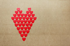 Love heart made of many small hearts Royalty Free Stock Photo