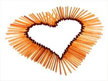 Love heart of matches Stock Photo