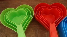 Love Heart  measuring cup Royalty Free Stock Images