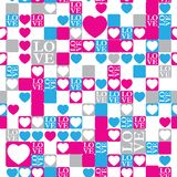LOVE and heart modern pattern Stock Photo