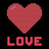 Love Heart On A Digital Grid Display Royalty Free Stock Photos