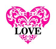 Love Heart Ornament. Eps 10 format. you can open in any program stock illustration