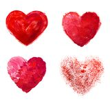 Love heart paint watercolor Royalty Free Stock Image