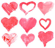Love heart paint watercolour Stock Images