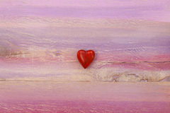 Love Heart on Painted Board Background Royalty Free Stock Photography
