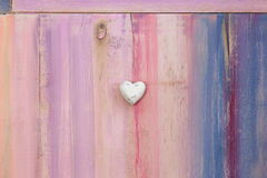 Love Heart on Painted Board Background Stock Photo