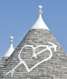 Love heart painted on house Stock Images