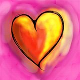 Love Heart Painting Royalty Free Stock Photos