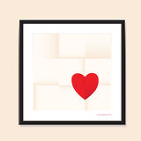Love heart paper background Royalty Free Stock Photography