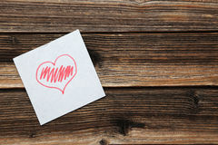 Love heart paper, close up Royalty Free Stock Image