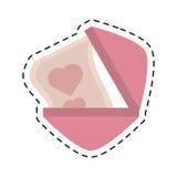 Love heart paper design decorative cut line Royalty Free Stock Photo
