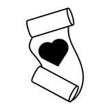 Love heart paper design decorative outline Stock Photo
