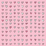 Love Heart Pink Pattern Background. Vector illustration of pink love heart pattern background Royalty Free Stock Photos
