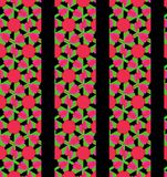 Love heart pink red green and black line wallpaper Stock Image