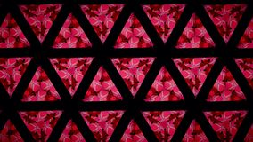 Love heart pink red green and black line wallpaper Royalty Free Stock Photo