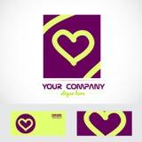 Love heart purple logo icon Royalty Free Stock Photos