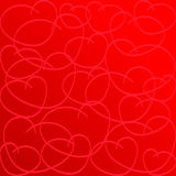 Love Heart. Red Background. Love Shape. Heart Background. Valentines day Texture Stock Photography