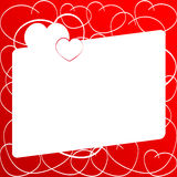 Love Heart . Red Background. Love Shape. Heart Background . Valentines day Texture Stock Images