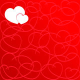 Love Heart. Red Background. Love Shape. Heart Background. Valentines day Texture Royalty Free Stock Photos