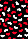 Love heart repeat pattern. Vector illustration of hearts in a repeat pattern Royalty Free Stock Images
