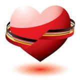 Love heart ribbon Royalty Free Stock Images