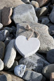 Love heart on the rocks Stock Photography