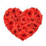 Love heart of roses Royalty Free Stock Images