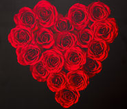 Love Heart From Roses Royalty Free Stock Image